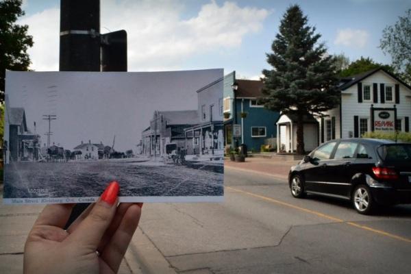Kleinburg Main Street, 1911 by Ingrid Goldschmid.