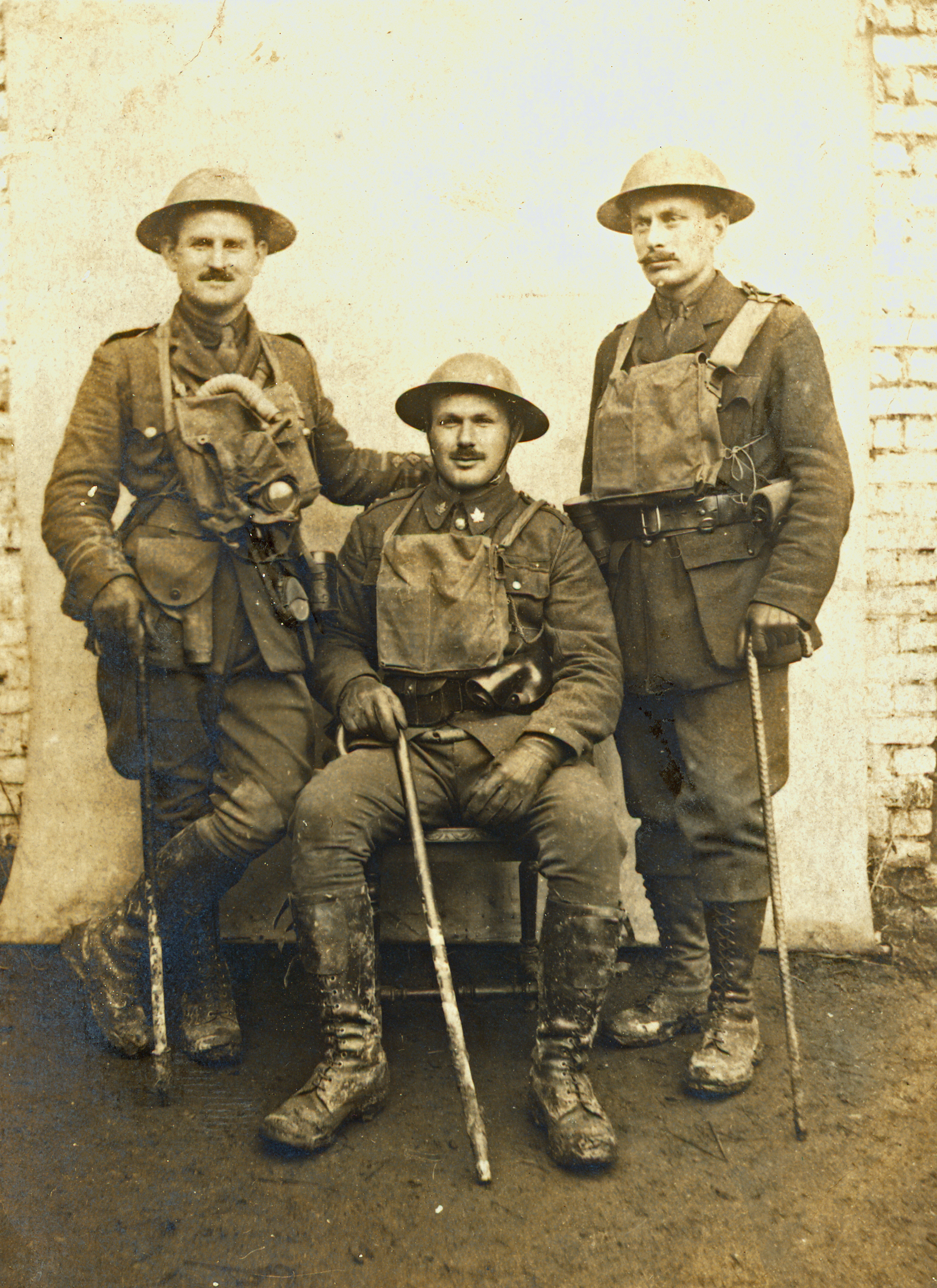 Members of the fourth Canadian Mounted Rifles