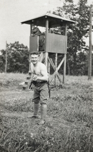 Donald Ross Mackenzie in training before going overseas, 1916
