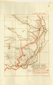 First World War trench map from Mackenzie front