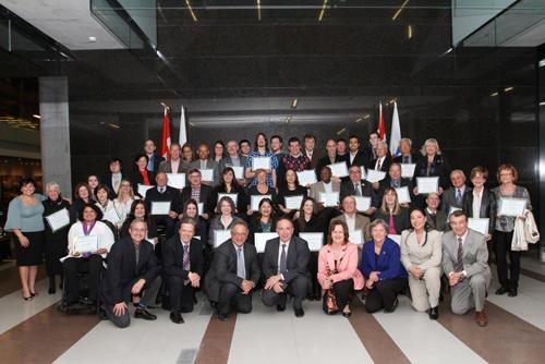 Volunteer Award Recipients - April 9, 2014