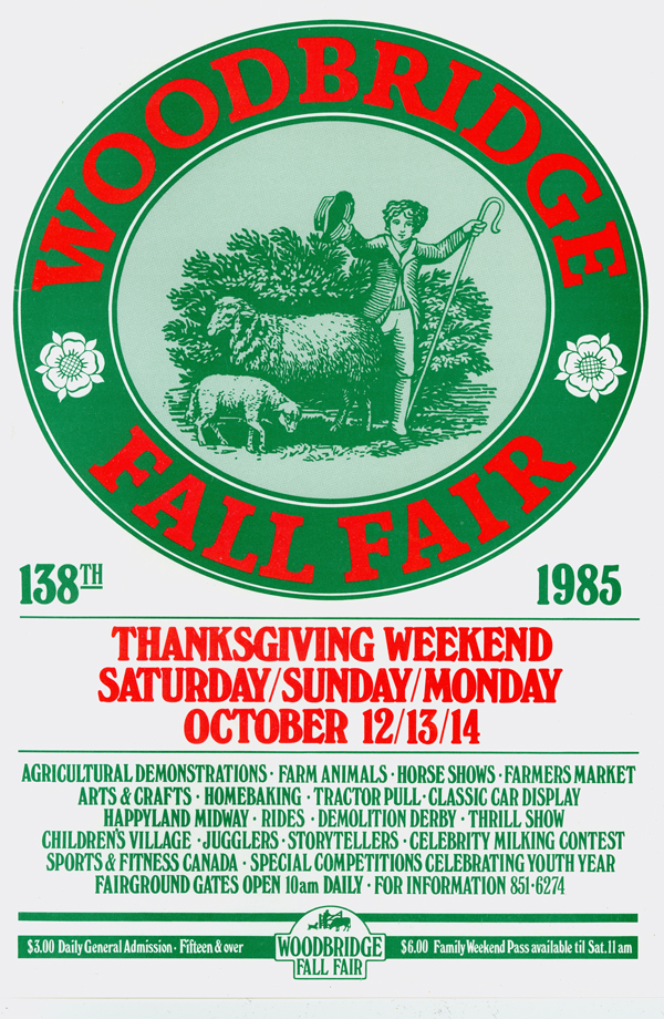 Woodbridge Fall Fair Poster 1985 MG 3