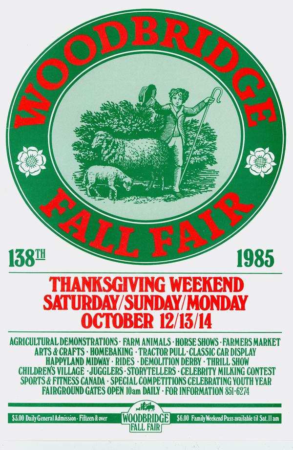 Woodbridge Fall Fair Poster 1985 MG 3