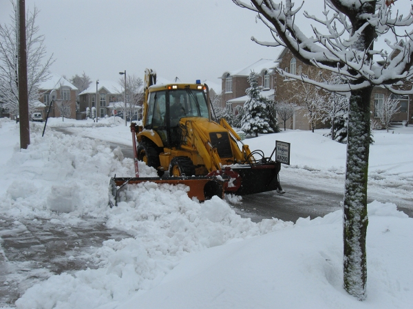 Road Plow Windrow