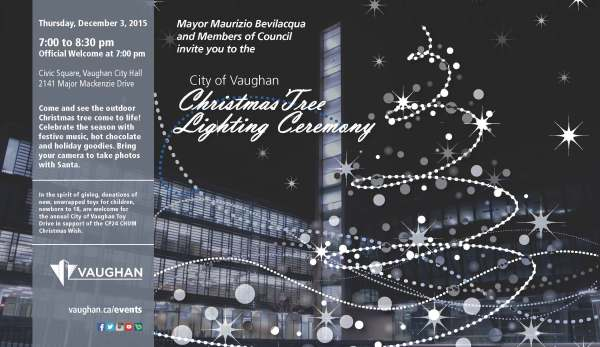 Tree Lighting poster 2015